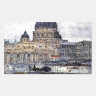 Vasily Surikov著ローマのセントピーターのカテドラル 長方形シール