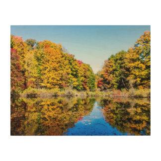 Vassarは池を耕作します ウッドウォールアート