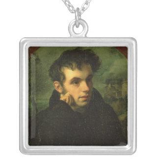 Vassily Zhukovsky 1816年のポートレート シルバープレートネックレス