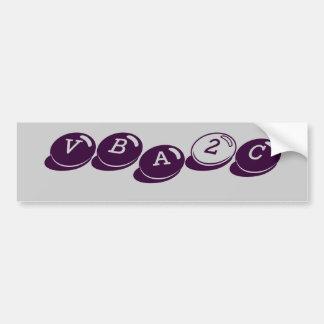 VBA2C バンパーステッカー