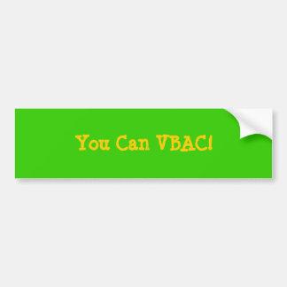VBACできます! バンパーステッカー