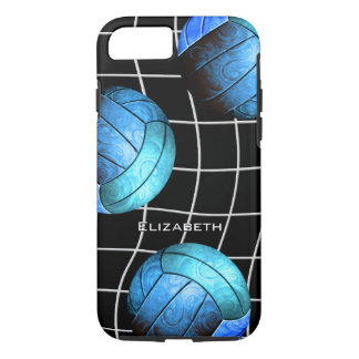 vballの網とのターコイズの女性のバレーボール iPhone 8/7ケース