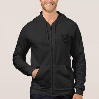 VCバッジ及びライオンの袖なしのジッパーのフード付きスウェットシャツ パーカ