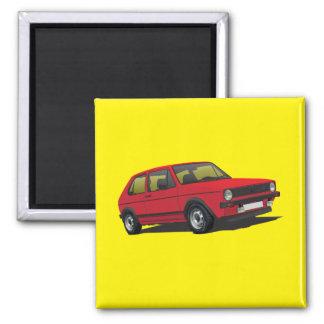 VDUBのゴルフGTI MK1赤の磁石 マグネット
