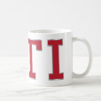 VDUB GTIの赤いバッジのマグ コーヒーマグカップ