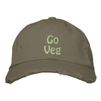 Vegは行きましたり、惑星、動物権の活動家を救います 刺繍入りキャップ