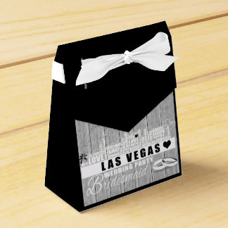Vegas Wedding Gift Ideas - Black Wood フェイバーボックス