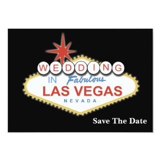 Vegas wedding save the date announcement