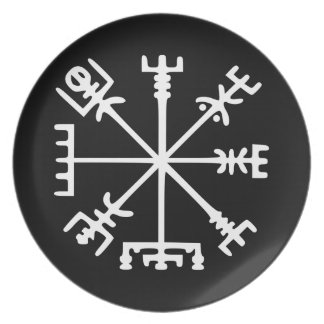 Vegvísir (バイキングのコンパス) プレート