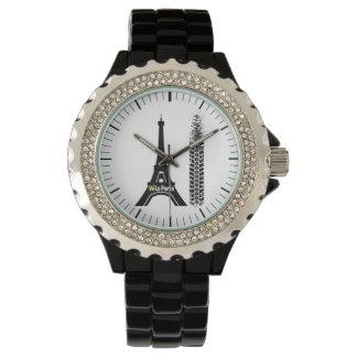 Veloパリのバイクのエッフェル塔 腕時計