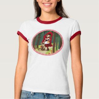 Velusaの赤い乗馬フード Tシャツ