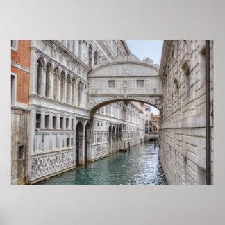 Venedig ItalienのSeufzerbrücke ポスター
