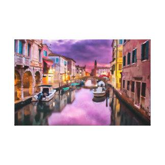 Venetian Waterway キャンバスプリント