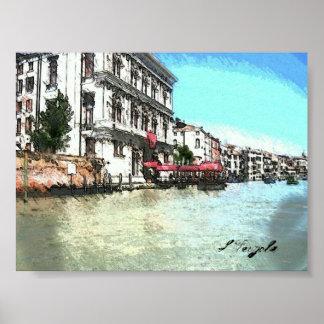 Veneziaのグランデ運河 ポスター