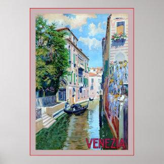 Veneziaの~のヴィンテージのイタリアンな旅行 ポスター