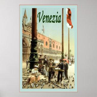 Veneziaの~のヴィンテージ旅行ポスター ポスター
