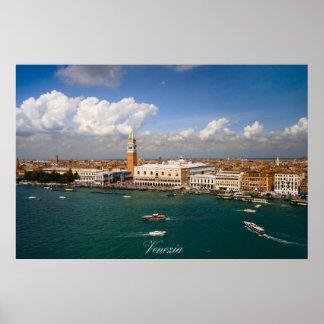 Venezia -ベニス運河 ポスター