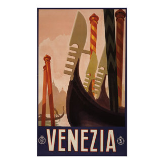 Venezia (ベニス)のヴィンテージ旅行ポスター ポスター