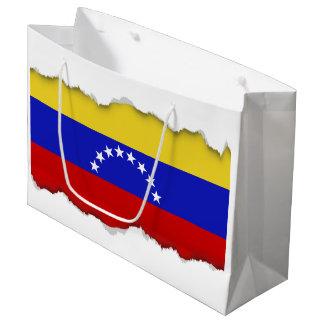 Venezualaの旗 ラージペーパーバッグ