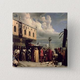 Venicで死んだTitianに与えられる葬式の名誉 5.1cm 正方形バッジ