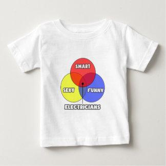 Vennの図表。 電気技師 ベビーTシャツ