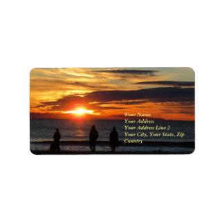 Ventura Beach Sunset Address Label ラベル
