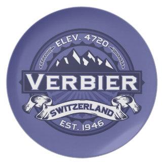 Verbierのロゴの真夜中 プレート