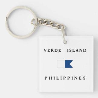 Verdeの島のフィリピンのアルファ飛び込みの旗 キーホルダー