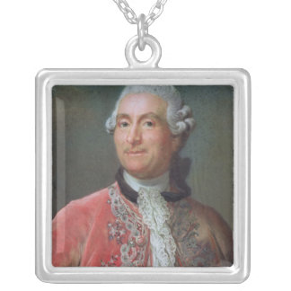 Vergennes 1771-74年のチャールズGravier計算 シルバープレートネックレス