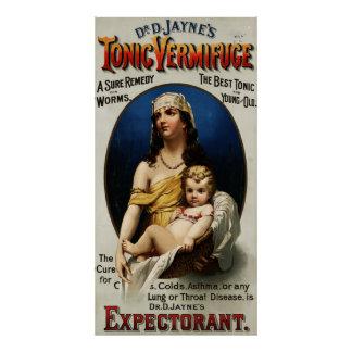 Vermifuge D. Jayne's Tonic先生の[1889年] ポスター