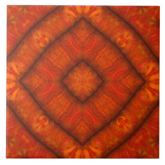 "Vermilion ""Inflatable-Silk"" Diamond-Mandala Tile タイル"
