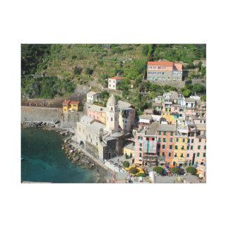 VernazzaのCinque Terreのキャンバスのプリント キャンバスプリント