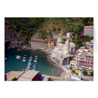 vernazza港イタリア カード