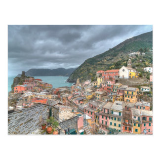 Vernazza、Cinque Terre、Itaの漁村 ポストカード