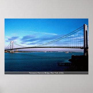 Verrazano狭いところは、ニューヨーク、米国繋ぎます ポスター