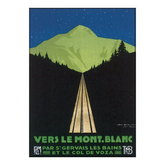 Vers Le Mont。 Blanc ポスター