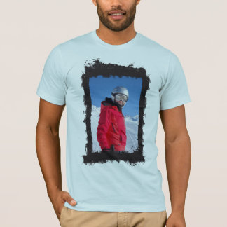 Vertical Photo Grunge Frame Create Your Own Tシャツ