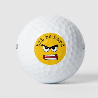Very Angry Yellow Emoji ゴルフボール