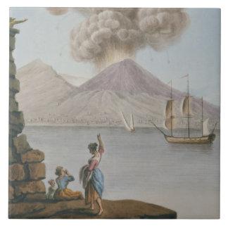Vesuviusの噴火、月曜日第9威厳があるな1779年は、地図をつくります タイル