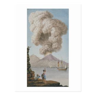 Vesuviusの噴火、月曜日第9威厳があるな1779年は、地図をつくります ポストカード