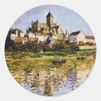 Vetheuilのクロード・モネ著教会 ラウンドシール