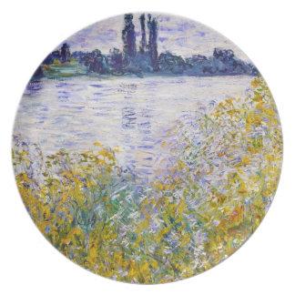 Vetheuilの近くのセーヌ河の花の島 プレート
