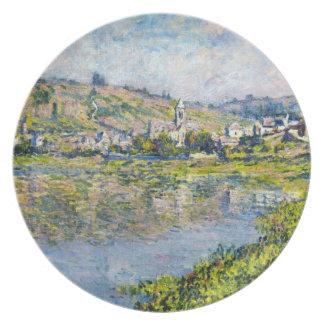 Vetheuilクロード・モネの景色のwaterscapeのペンキ プレート