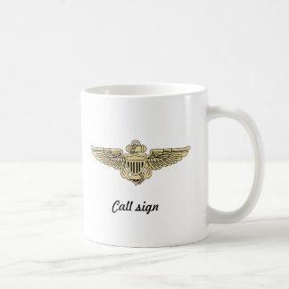 VFA-14カスタムなビールステインw/callの印 コーヒーマグカップ