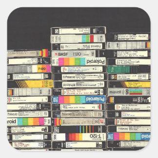 VHSのステッカー スクエアシール
