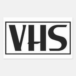 VHSのステッカー 長方形シール