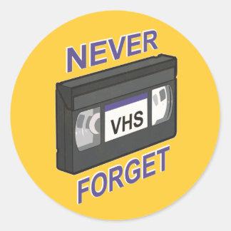 VHSは、決して忘れません ラウンドシール