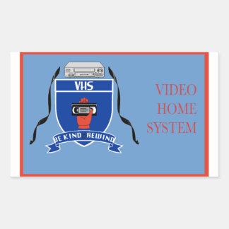 VHS -ステッカー 長方形シール