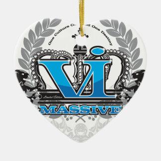 VI大きい服装の青 セラミックオーナメント