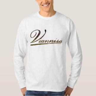 Viannisaの白の長袖 Tシャツ